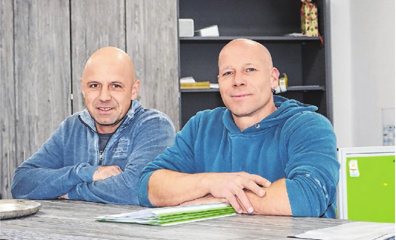 Wendelin Rau (links) und Heiko Schäfer haben den Betrieb vor 14 Jahren gegründet. Heute beschäftigen sie zehn Mitarbeiter.