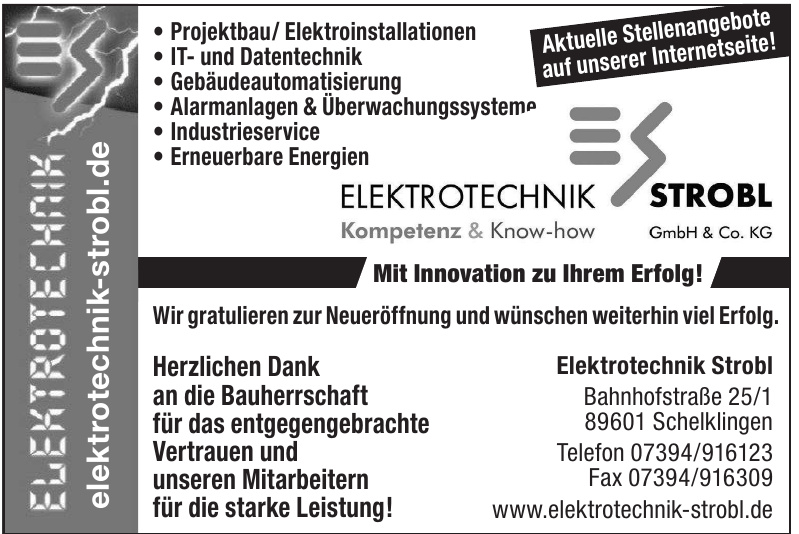 Elektrotechnik Strobl GmbH & Co. KG