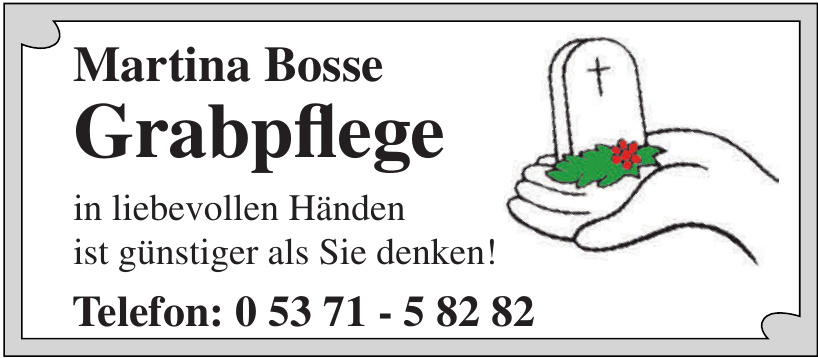 Martina Bosse Grabpflege