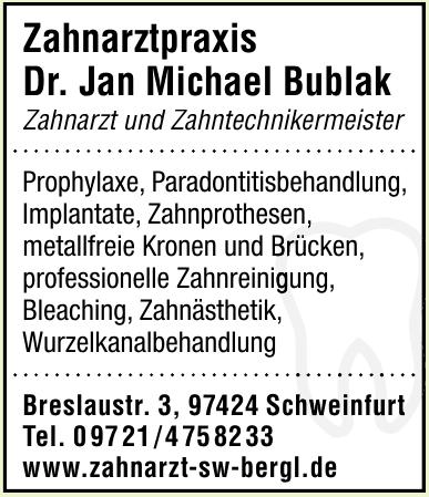Zahnarztpraxis Dr. Jan Michael Bublak
