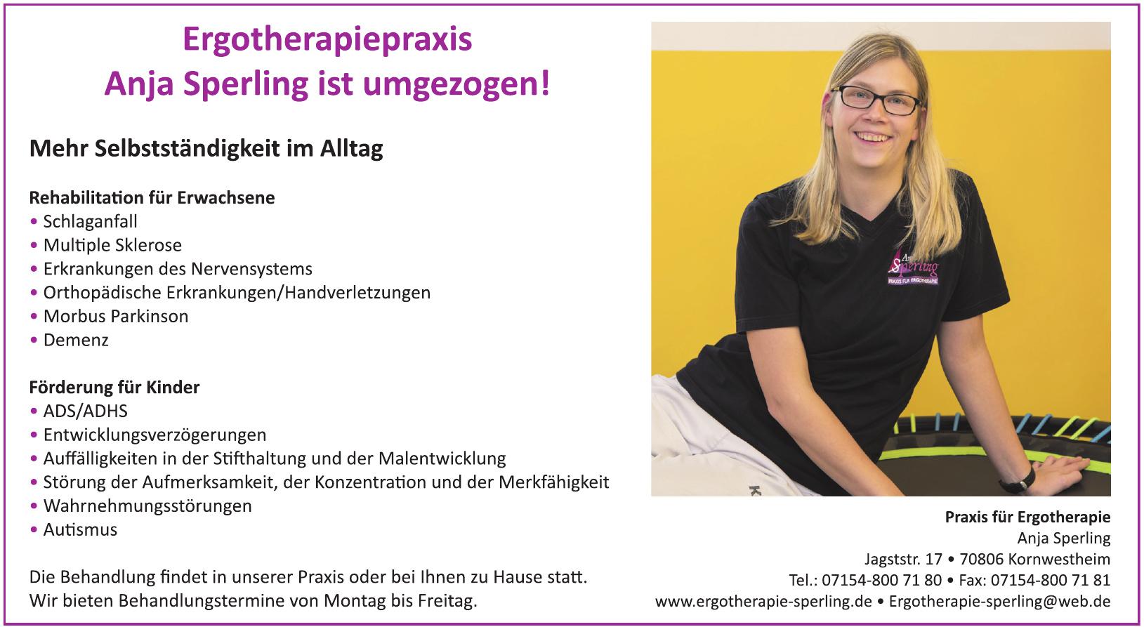 Praxis für Ergotherapie Anja Sperling