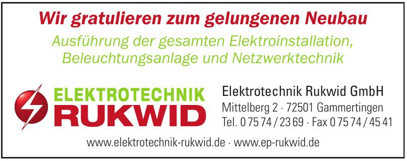 Elektrotechnik Rukwid GmbH