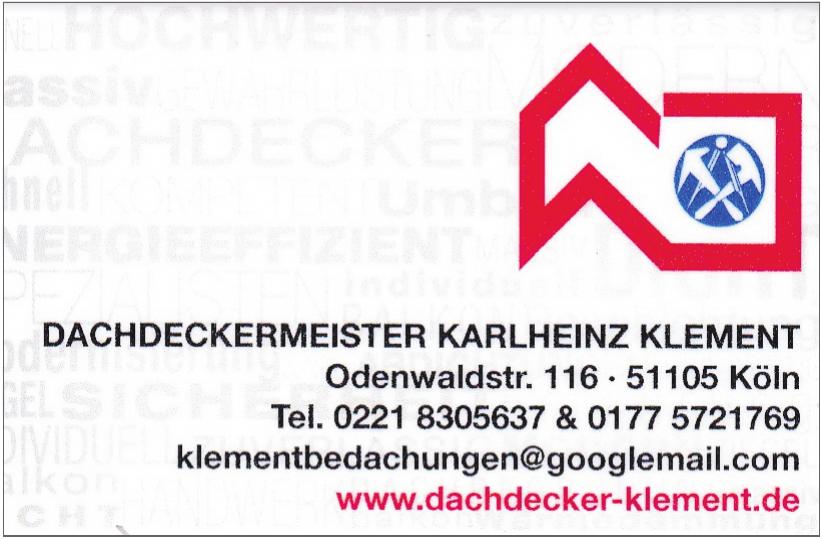Dachdeckermeister Karlheinz Klement