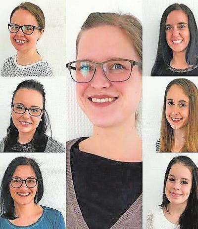 Viehstrich-Apotheke: Das junge Team um Apothekerin Nicole Schneider. FOTO: APOTHEKE