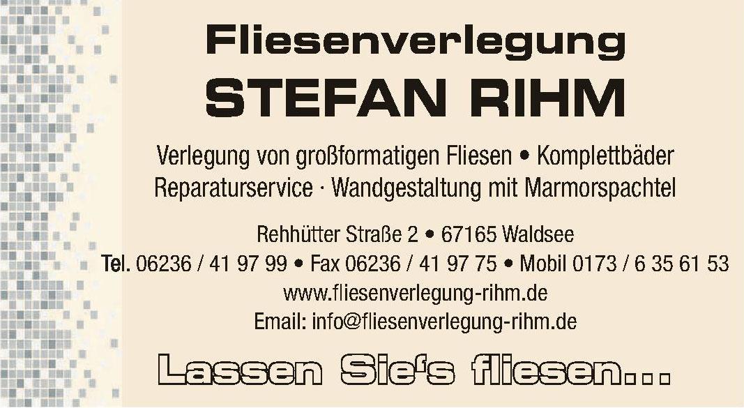Fliesenverlegung Stefan Rihm