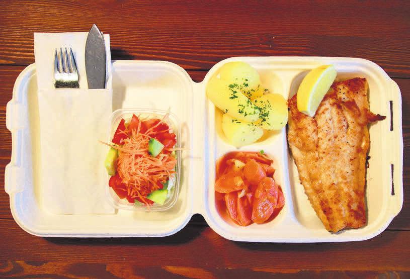 Fisch zum Mitnehmen für zu Hause oder das Büro: Die Fischgerichte im Frischhaus Kirchrode werden aus besten Zutaten und mit viel Liebe zubereitet.