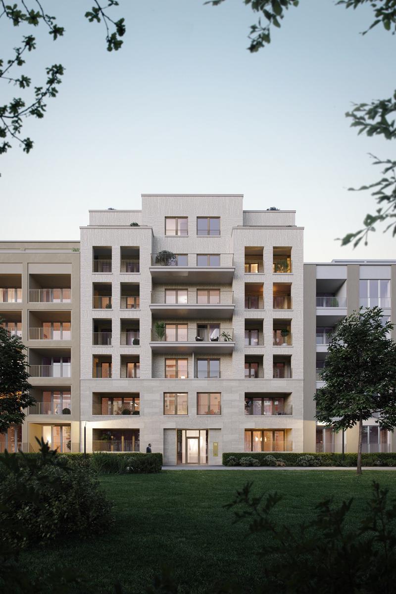 Die Außenansicht von Haus 11. Foto: Becken Development GmbH