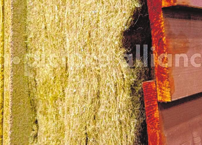 Bei der Wärmedämmung können ökologische Materialen wie Thermo-Hanf zum Einsatz kommen.