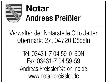 Notar Andreas Preißler