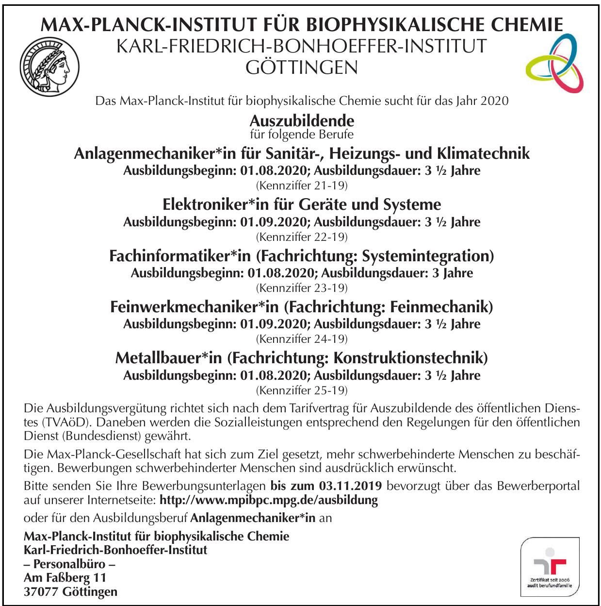 Max-Planck-Institut für biophysikalische Chemie