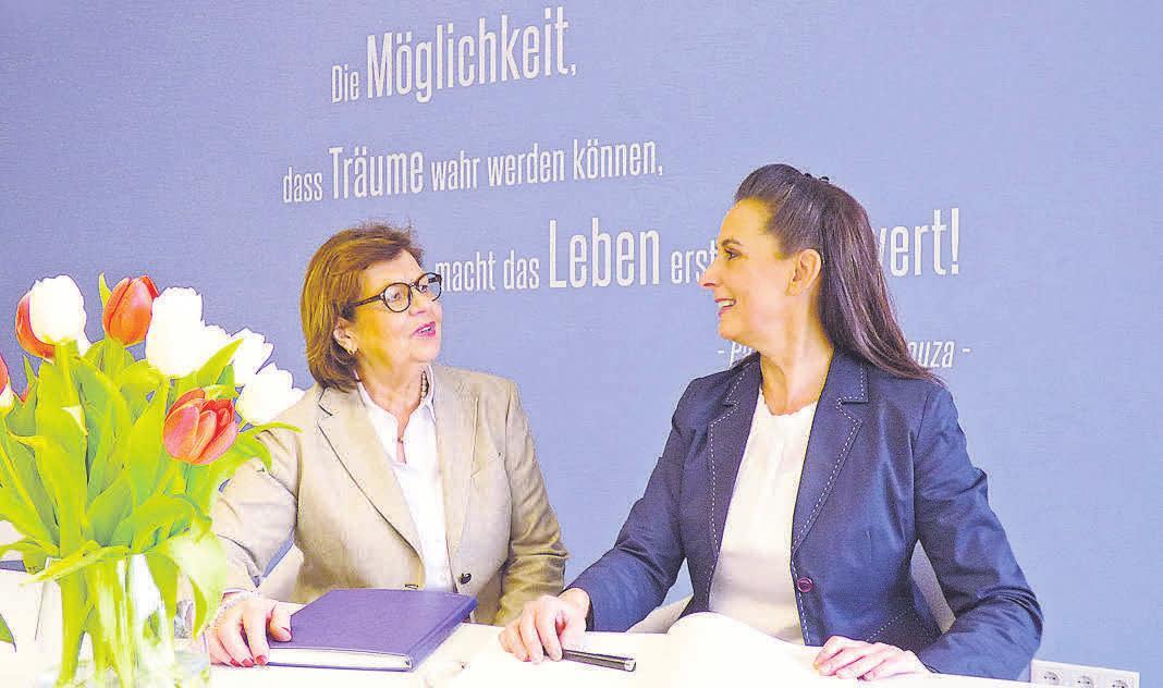 Die Immobilienmaklerinnen Thea Simon-van de Ven (rechts) und Eva Hirschfeld gehen neue Wege. Foto: privat
