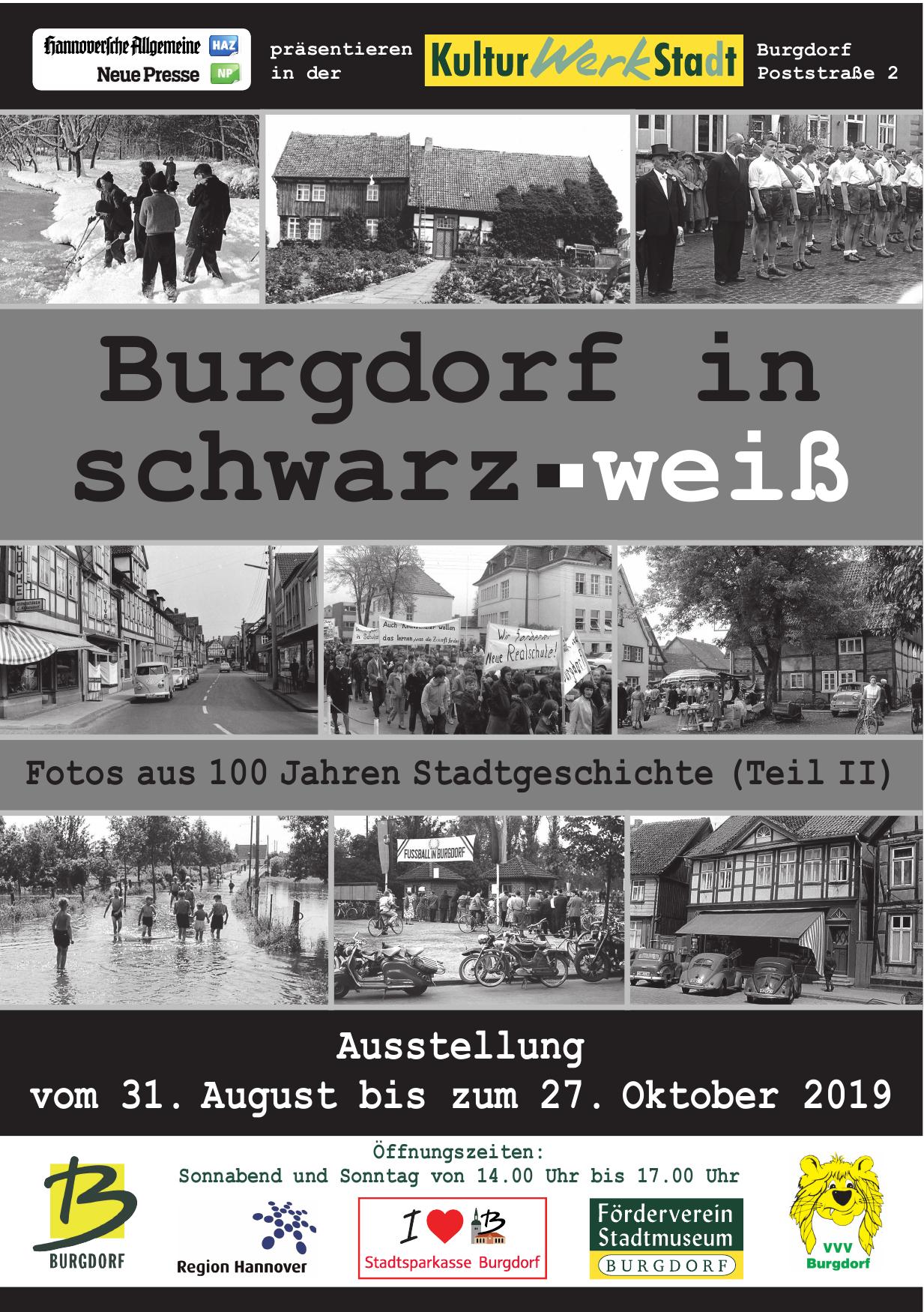 Burgdorf in schwarz.weiß