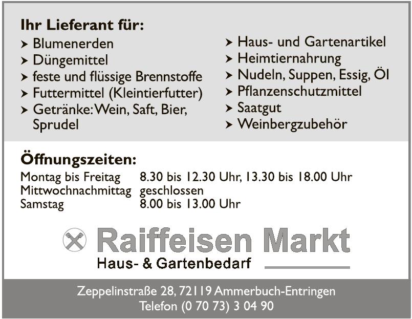 Raiffeisen Markt Haus- & Gartenbedarf