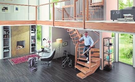 Treppen werden als Gefahrenquelle im Haus oft unterschätzt. Mit zunehmen dem Alter steigt das Unfallrisiko. FOTOS: TREPPENMEISTER