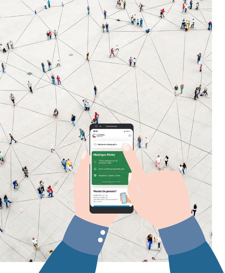 Vernetzte Corona-Leidensgemeinschaft: Die Warn-App haben Millionen heruntergeladen.