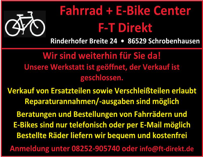 Fahrrad + E -Bike Center F-T Direkt