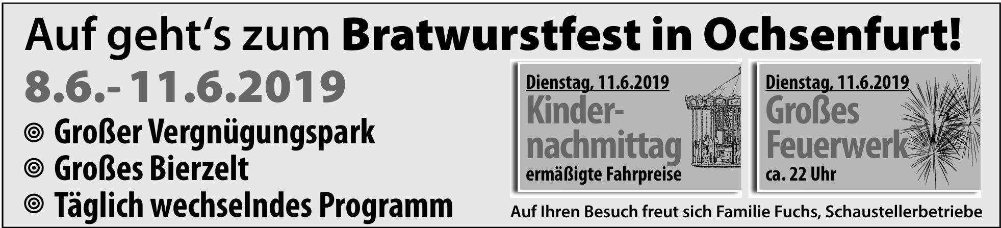 Bratwurstfest in Ochsenfurt