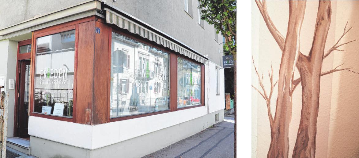 In Ravensburg, in der Seestraße 19, ist der Bestattungsdienst Frieden seit 1999. Der Stammsitz ist in Grünkraut. FOTOS: ROSA LANER