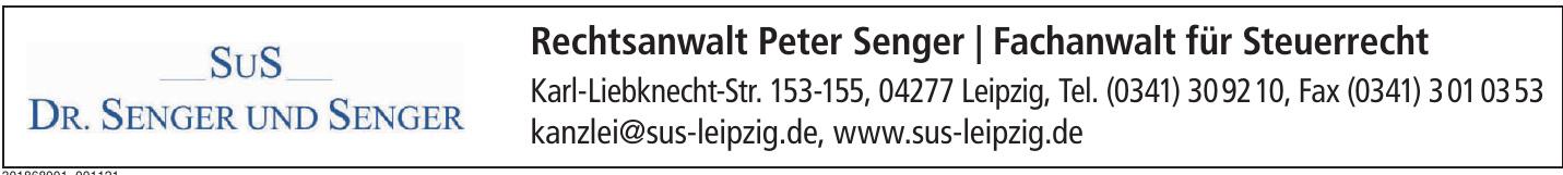 Rechtsanwalt Peter Senger