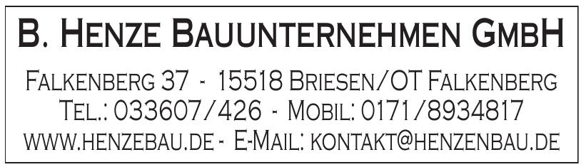 B. Henze Bauunternehmen GmbH