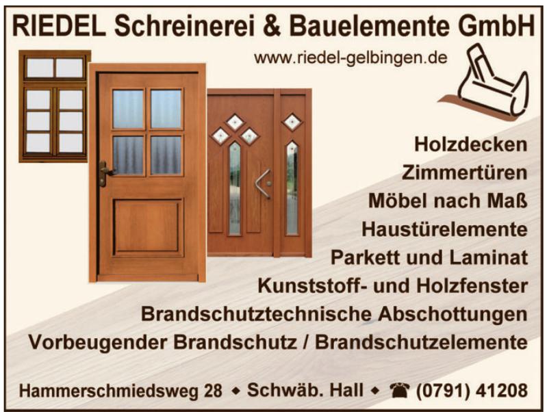 Riedel Schreinerei & Bauelemente GmbH