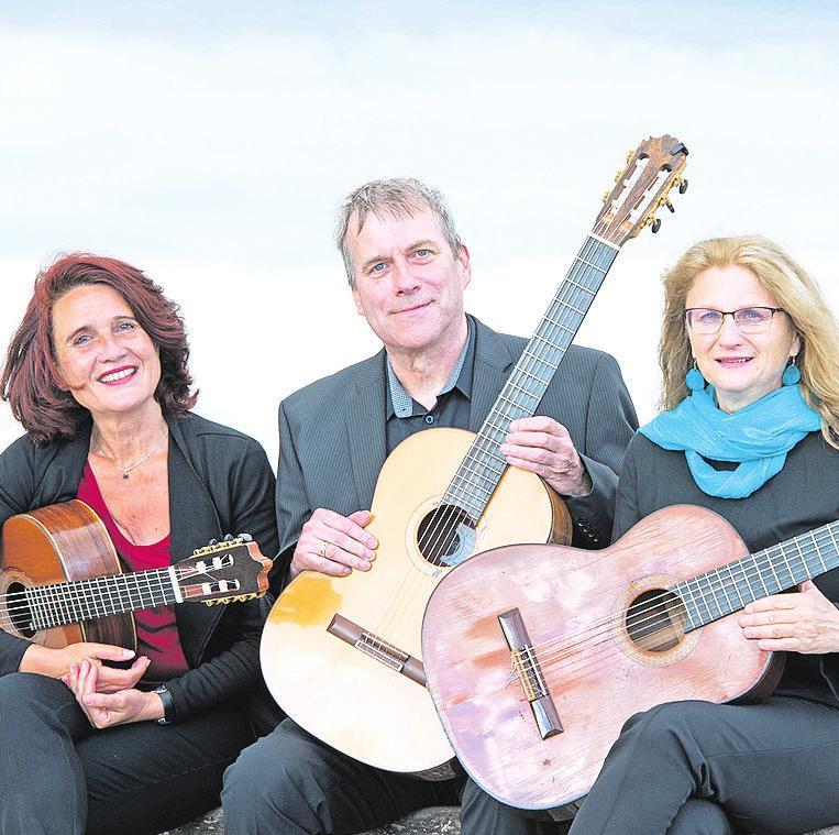 Das Rotenbek Trio mit Heike Krugmann (von links), Peter Lohse und Karin Aigner. Foto: Enno Friedrich