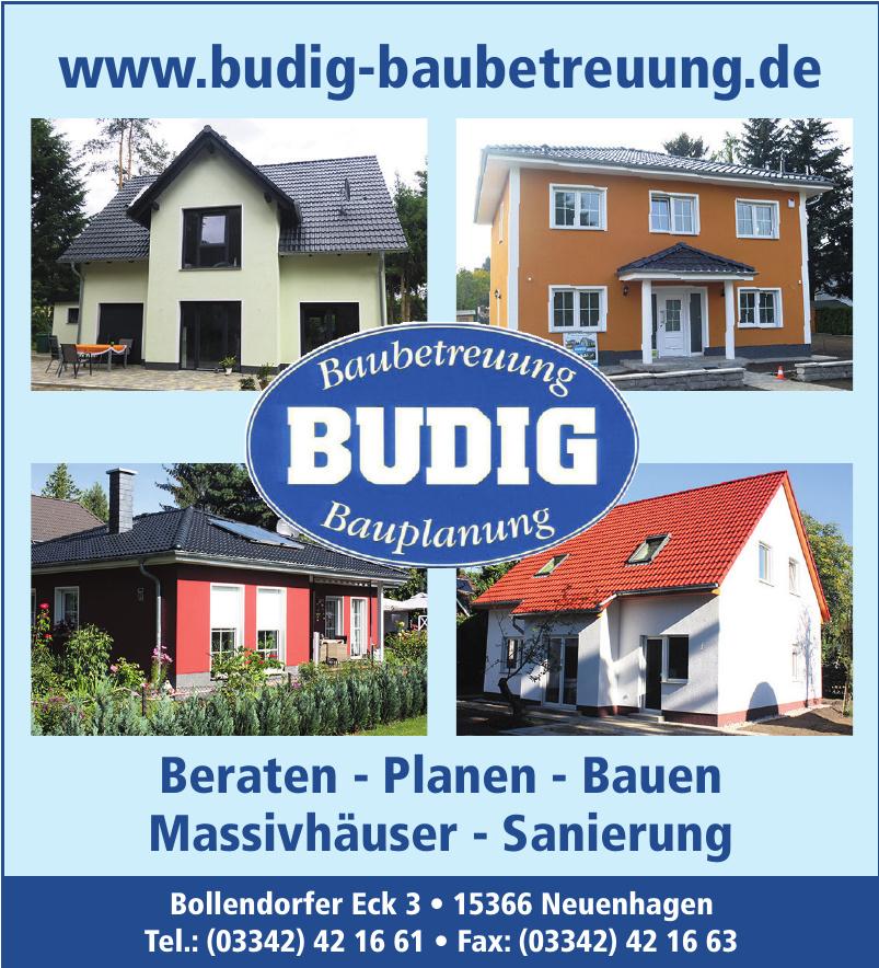 Budig Baubetreuung - Bauplanung