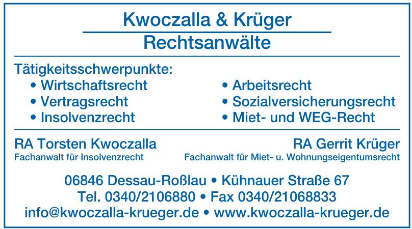 Kwoczalla & Krüger Rechtsanwälte