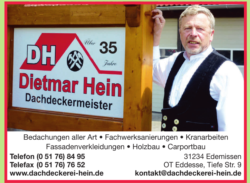 Dietmar Hein Dachdeckermeister