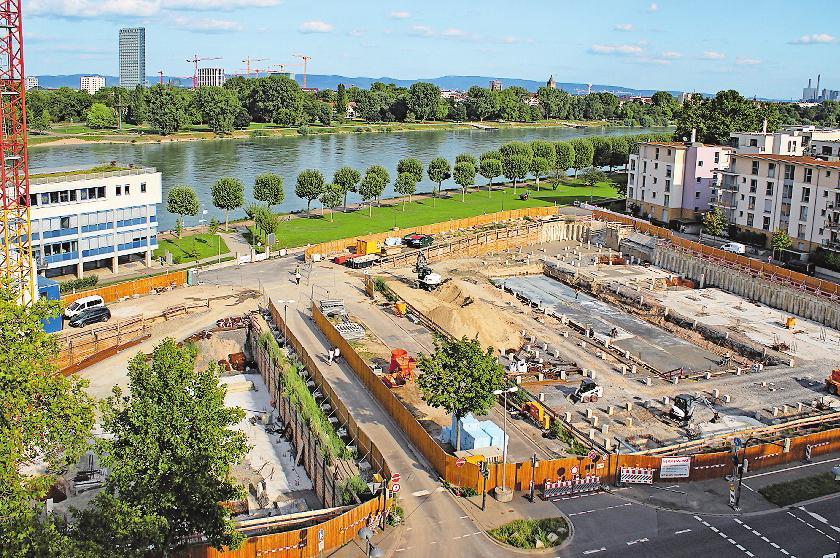 Ludwigshafen ist eine wachsende Stadt: die Bauprojekte am Rheinufer Süd stehen für die Entwicklung. FOTO: STADT LUDWIGSHAFEN/FREI