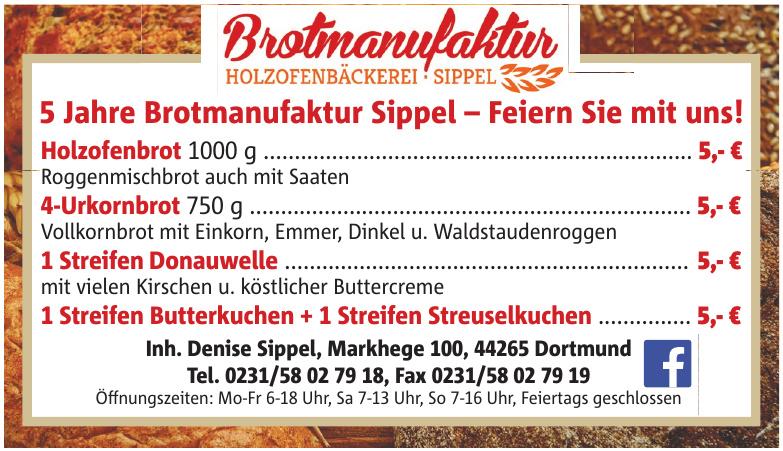 Brotmanufaktur Holzofenbäckerei Sippel