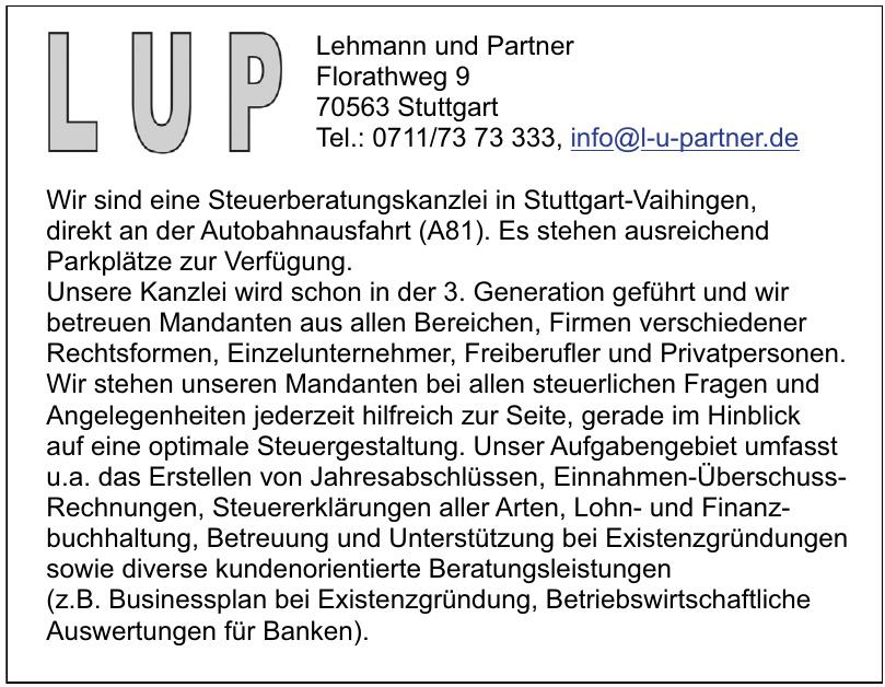 Lehmann und Partner
