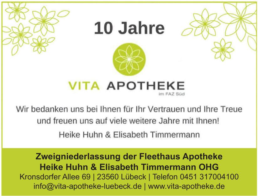 Vita Apotheke - Zweigniederlassung der Fleethaus Apotheke Heike Huhn & Elisabeth Timmermann OHG