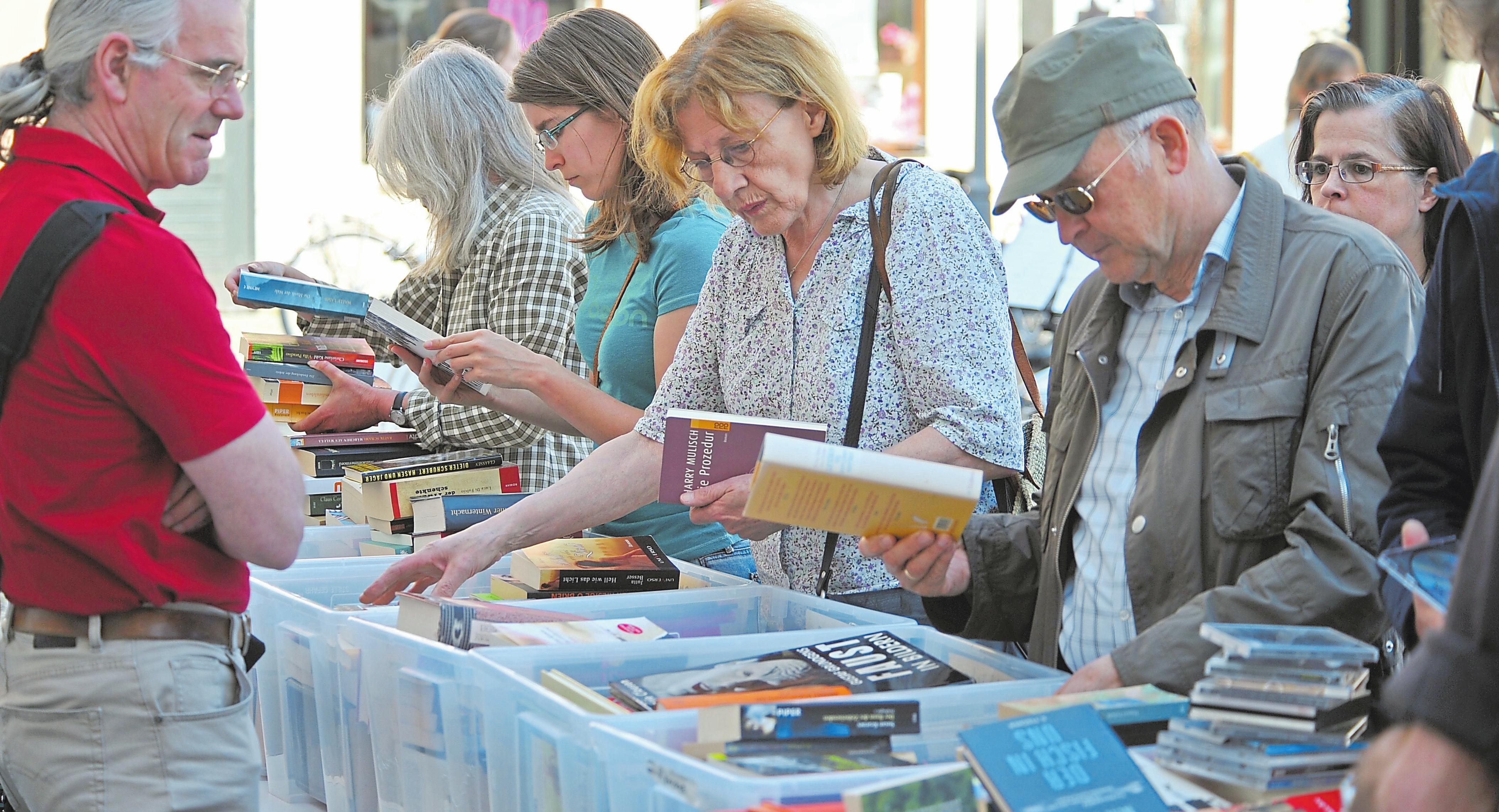 Der Förderverein der Stadtbücherei organisiert wieder einen Bücherflohmarkt. Foto: Drunkenmölle