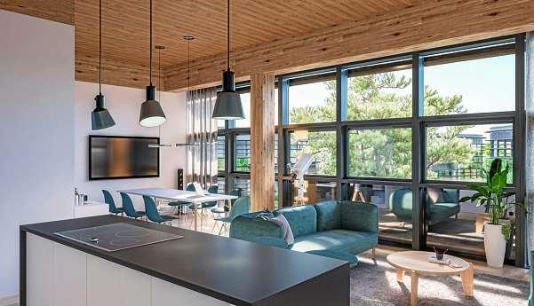 Nicht nur im gehobenen Preissegment gehören Fußbodenheizung, Balkon und eine offene Wohnküche mittlerweile zum modernen Wohnstandard.
