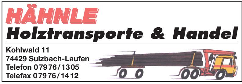 Hähnle Holztransporte & Handel