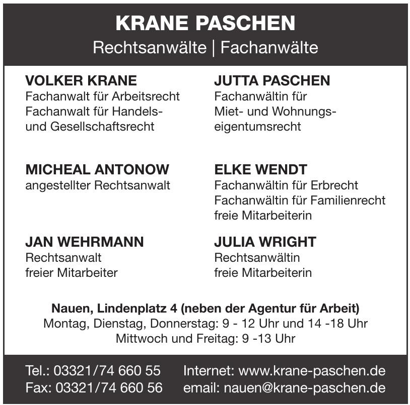 Krane Paschen Rechtsanwälte Fachanwälte