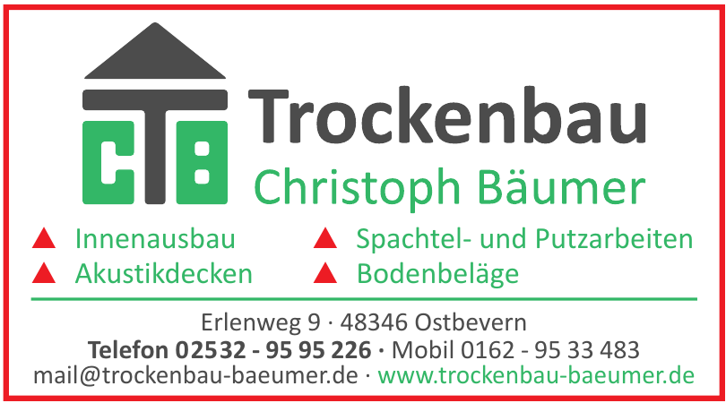 Trockenbau Christoph Bäumer