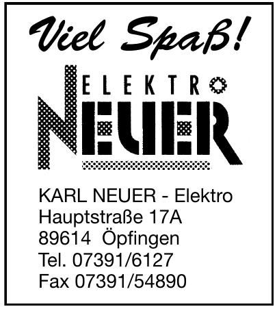 Karl Neuer - Elektro