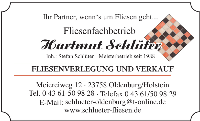 Hartmut Schlüter Fliesenfachbetrieb
