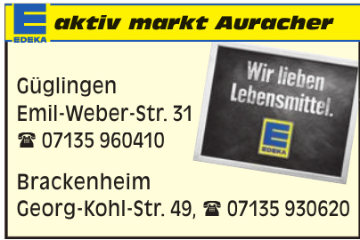 Edeka aktiv markt Auracher