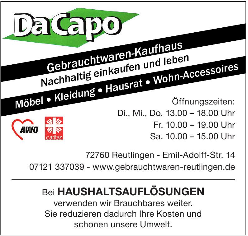 DaCapo Gebrauchtwaren-Kaufhaus