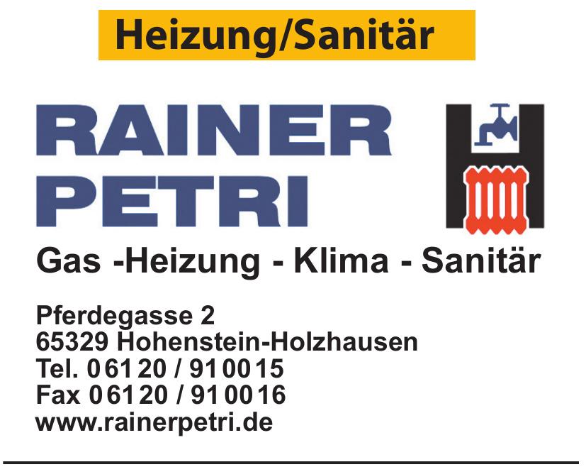 Rainer Petri Gas - Heizung - Klima - Sanitär