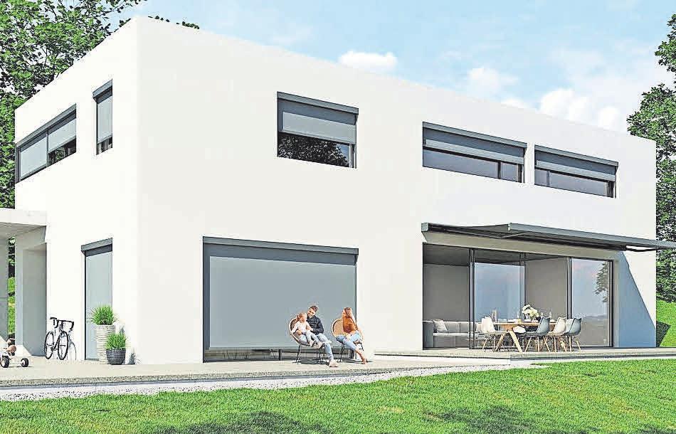 Ausgeklügelte Technik und gradlinig im Design – die neue Terrassenmarkise von KADECO passt perfekt zum Bauhausstil.