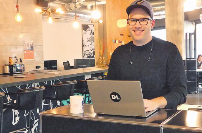 Thomas Riedel ist großer Coworking-Fan.Foto: Kohlenberg