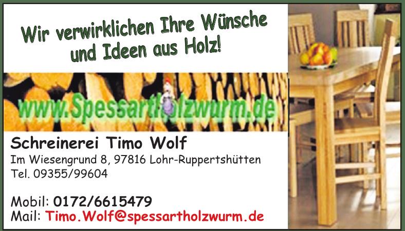 Schreinerei Timo Wolf