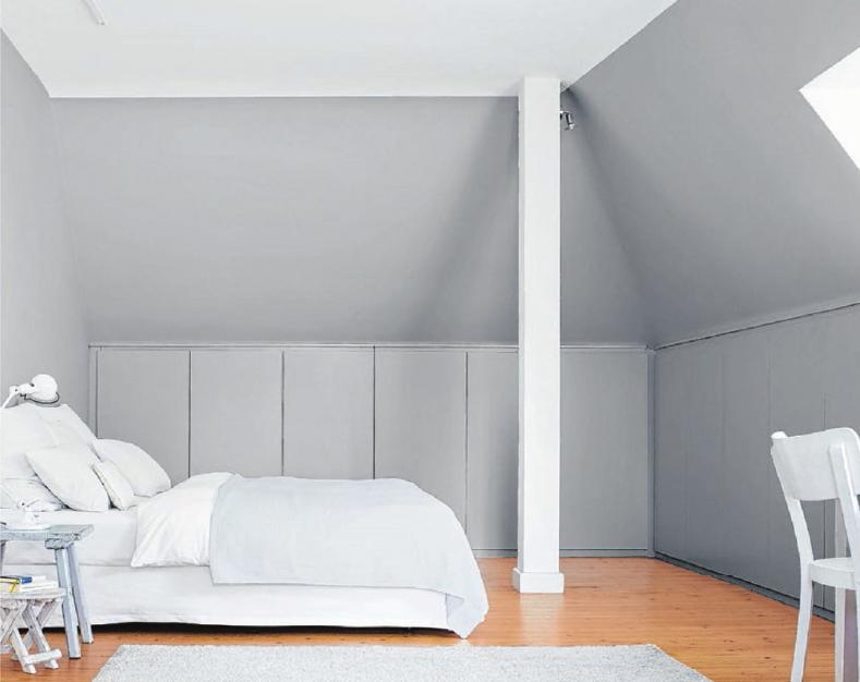 Dachschrägen lassen sich gut für Einbauschränke nutzen. Auch ein Bett kann man unter einem Dachfenster aufstellen. Foto: dpa