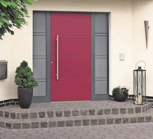 Zahlreiche Farben, Gläser und Beschläge stehen zur Auswahl, um jede Haustür einzigartig zu gestalten.