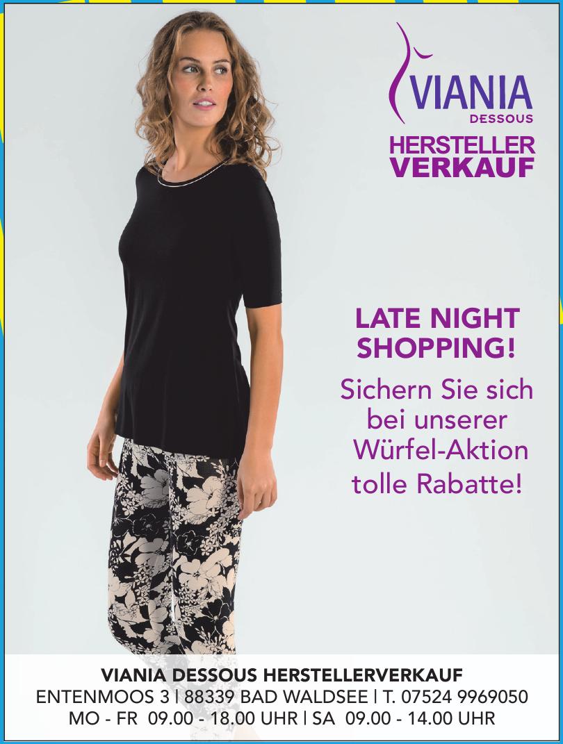 Viania Dessous Herstellerverkauf