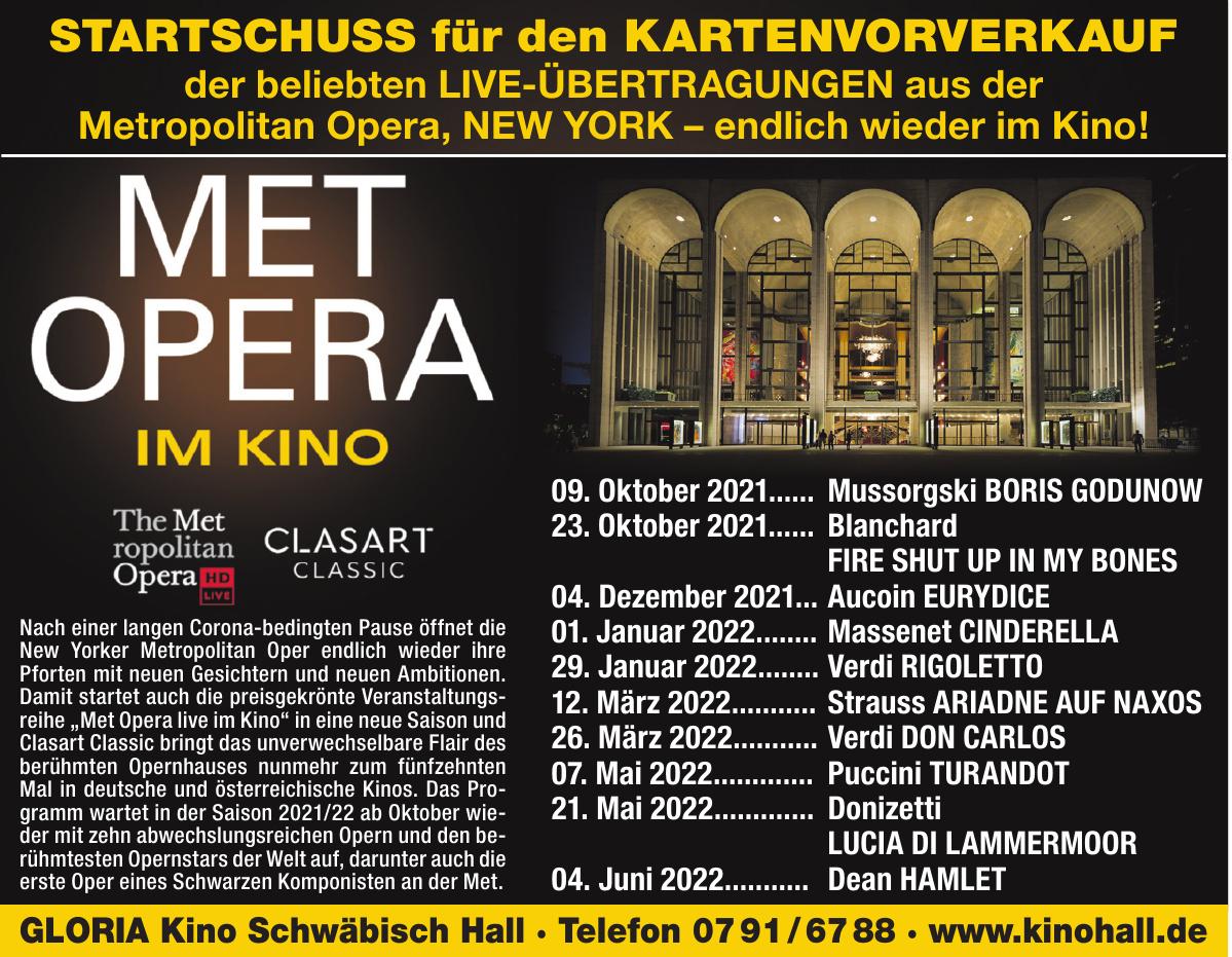 Gloria Kino Schwäbisch Hall
